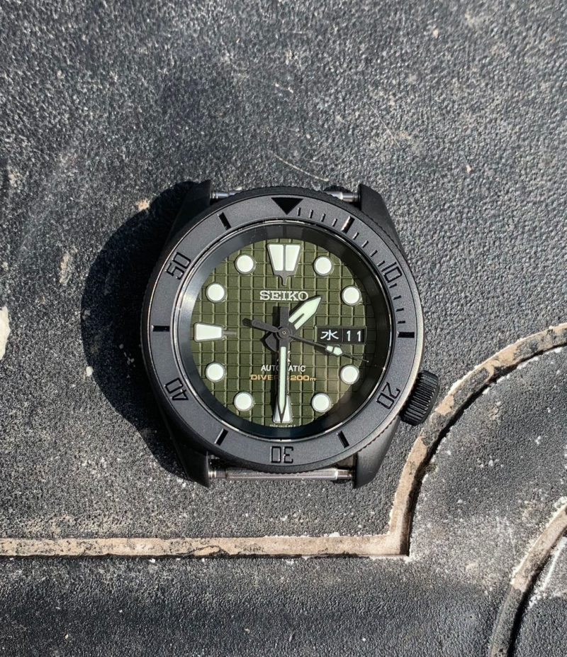 flat black ceramic insert for skx007 srpd