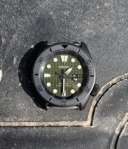 flat black ceramic insert for skx007 srpd